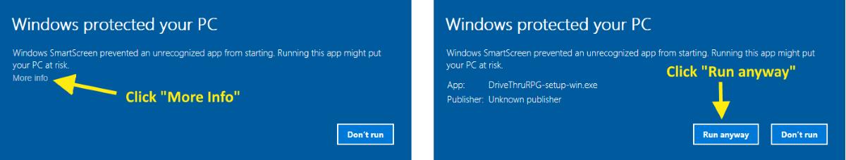 Windows Install Warning